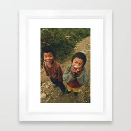 So sweet radish | Faces of Nepal Framed Art Print