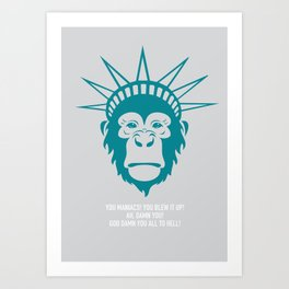 Planet of the Apes - Alternative Movie Poster Art Print