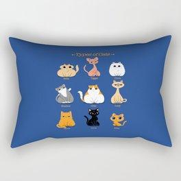 Types of Cats Rectangular Pillow