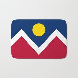 Denver City Flag - Authentic High Quality Bath Mat