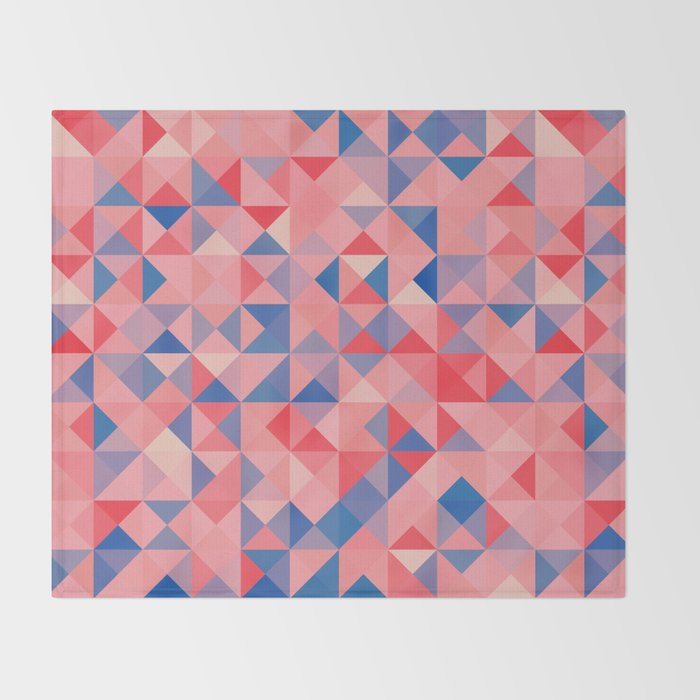 colorful Triangles 1 Throw Blanket
