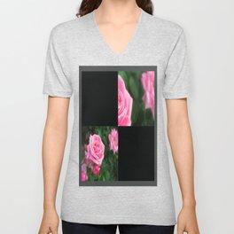 Pink Roses in Anzures 1 Blank Q2F0 Unisex V-Neck