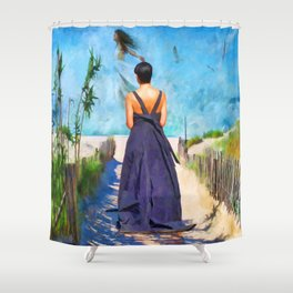 The Vision by Liane Wright Shower Curtain