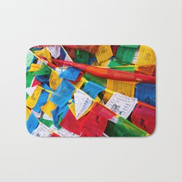 Colorful Tibetan prayer flags Bath Mat