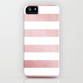 Simply Stripes in Rose Gold Sunset iPhone Case