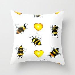 Bzz! Throw Pillow