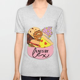 Very First Eats By Lex Logo Unisex V-Neck