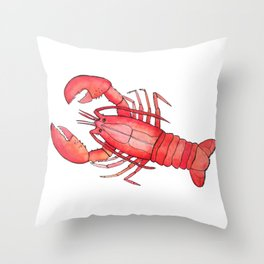 Lobster: Fish of the World Throw Pillow