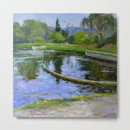 Morning park Metal Print