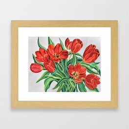Wild Tulips Framed Art Print