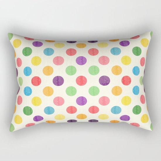 Lovely Dots Pattern II Rectangular Pillow