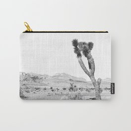 Vintage Desert Scape B&W // Cactus Nature Summer Sun Landscape Black and White Photography Carry-All Pouch