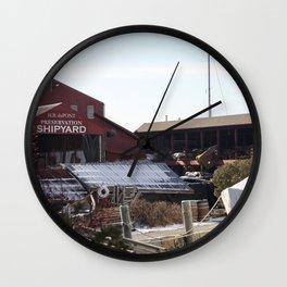 Red Barn ShipYard Wall Clock