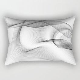 Minimal black and white smoky flux in motion #abstractart #decor Rectangular Pillow