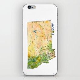 Montana Painted Map iPhone Skin