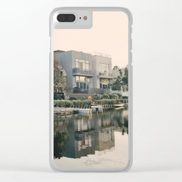 Venice Canals at Sunset Clear iPhone Case