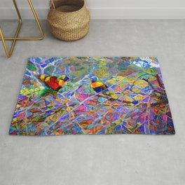 Rainbow Lorikeet Mosaic Rug