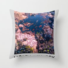 NORTH BERWICK FOR ROCK POOLS Throw Pillow