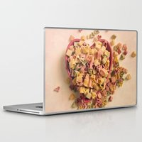 pasta Laptop & iPad Skins featuring I Heart Pasta by RDelean