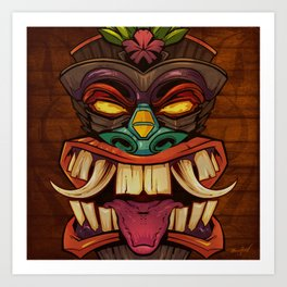 Tiki Head Style 2  Art Print