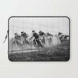 Motocross black white Laptop Sleeve