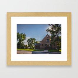 Holy Trinity Catholic Church, Fingal, North Dakota Framed Art Print