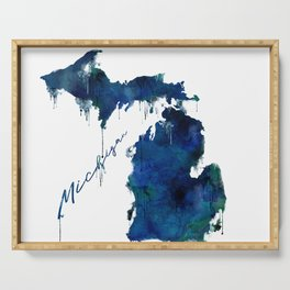 Michigan - wet paint Serving Tray