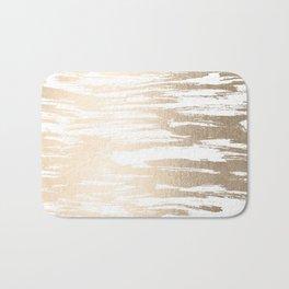 White Gold Sands Paintbrush Bath Mat