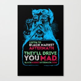 Mad Old Men In His Moustache Glory Canvas Print