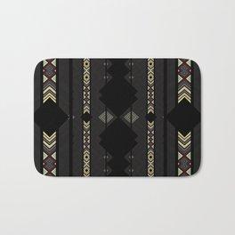 Southwestern Black Diamond Stripe Patterns Bath Mat