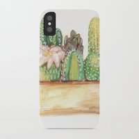 cacti iPhone & iPod Cases featuring Cacti by Diana Willard