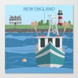 New England Fishing Boat Canvas Print