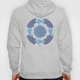 Lacy Blue & Navy Mandala Pattern  Hoody