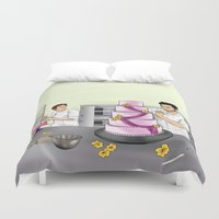 sterek Duvet Covers featuring Baker Sterek by Finduilas