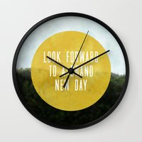 brand new Wall Clocks featuring Brand New Day by serenefolio