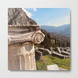 Delphi Oracle, Pytho, Greece lovers, ancient Greece photography, Greek temple, Oracle of Delphi, Metal Print