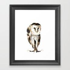 Melancholy Owl Framed Art Print