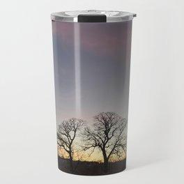 Autumn Sunset Silhouette - Pheasant Branch Conservancy Travel Mug