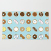 donuts Area & Throw Rugs featuring Donuts by Dorothy Leigh