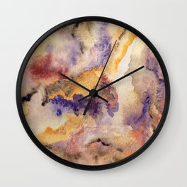 Colorful mountains landscape Wall Clock