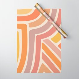 Abstract Stripes IV Wrapping Paper