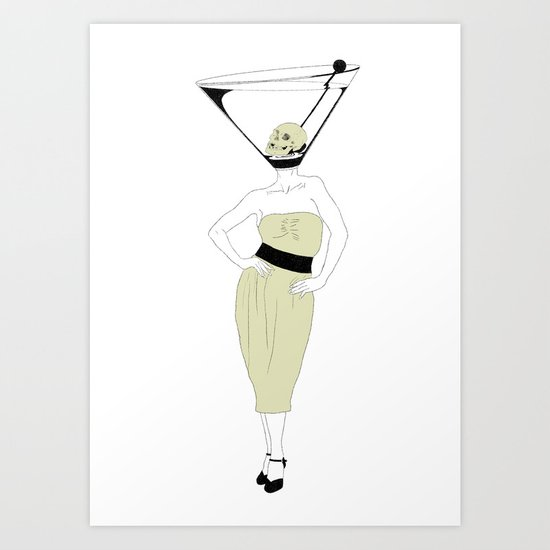 LIQUID DINNER PARTY DARLING, ANOTHER MARTINI? Art Print