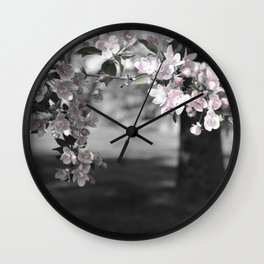 Crab Apple in Pink Wall Clock