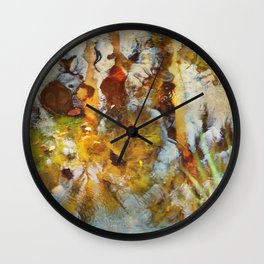 Palm Trees in Pond Wall Clock