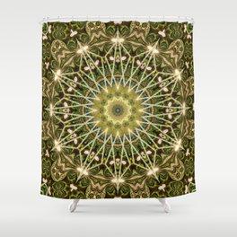 Geometric Forest Mandala Shower Curtain