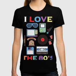 I Love Retro 1980s Classical Gift Design Idea print T-shirt
