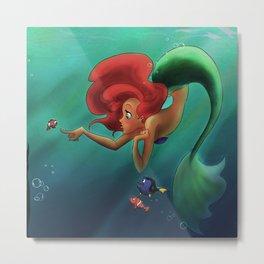 mermaids and nemo Metal Print