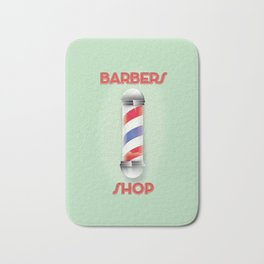 Barbers Shop Bath Mat
