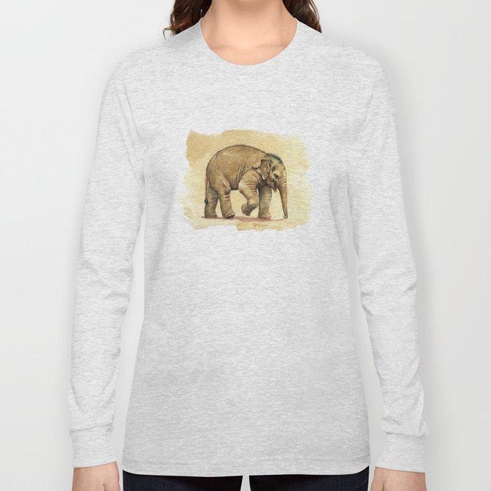 Baby elephant A081 Long Sleeve T-shirt
