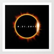 Total Solar Eclipse August 21 2017 Art Print